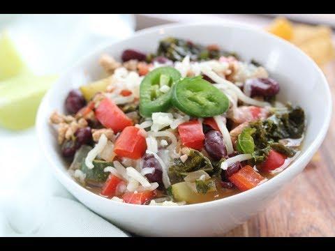 Turkey +Veggie Chili Recipe | Easy Healthy Turkey Chili