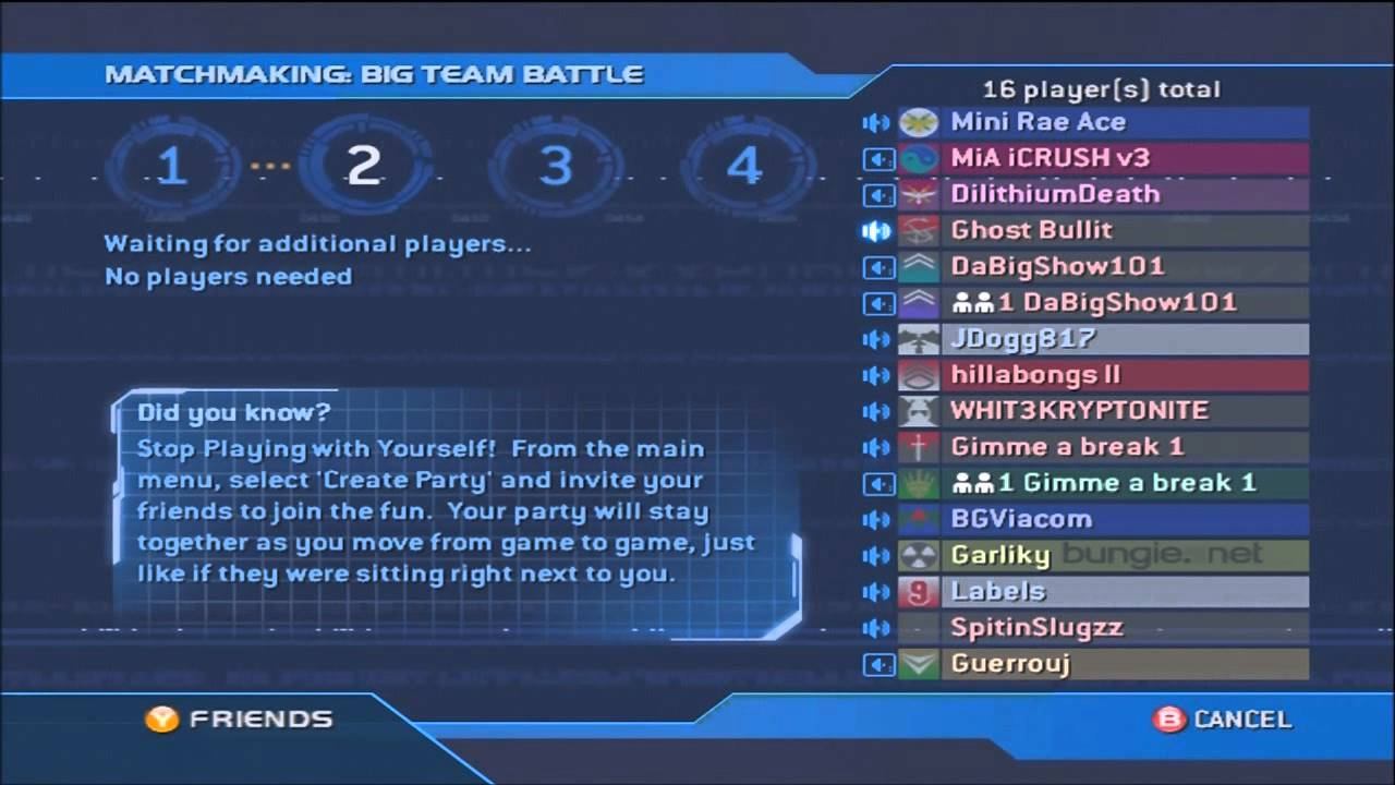 Halo matchmaking still down