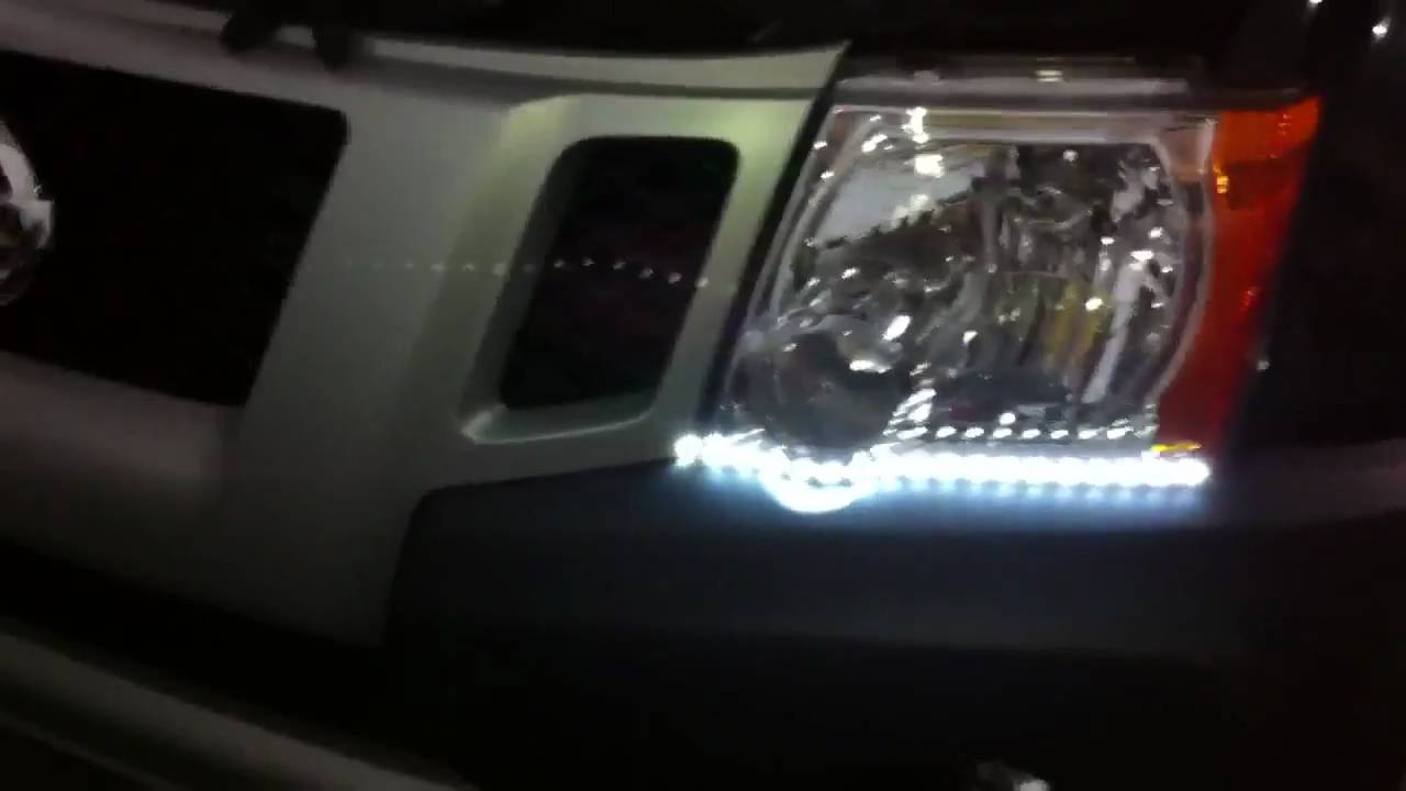 2011 Nissan Xterra daytime running light (DRL) mod with HID DRL ...