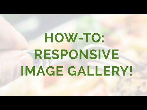 How-to: Responsive Image Gallery!