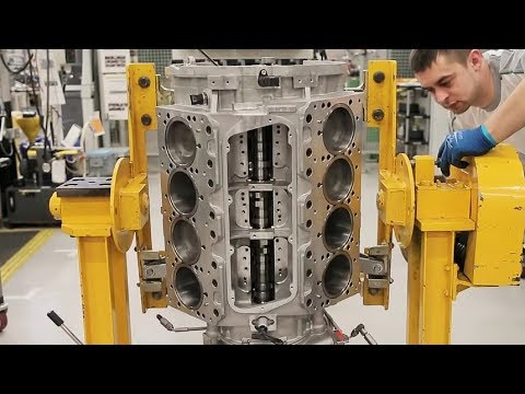 Bentley Factory V8 Engine Production
