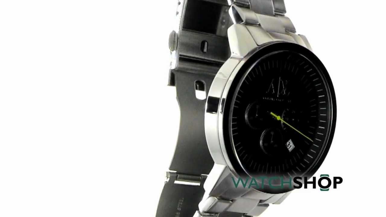 73d6a3845a4 Men s Armani Exchange Chronograph Watch (AX2063) - YouTube