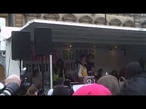 Bairns not bombs rally Glasgow Saturday 4th April 2015. Speech by First Minister Nicola Sturgeion