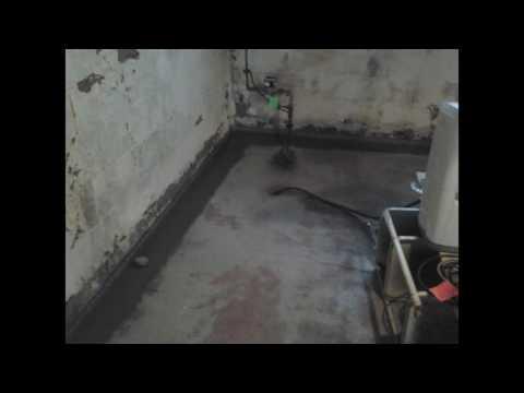 Basement Waterproofing and Finish White