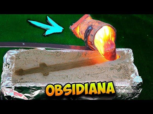 ¡Hice una ESPADA de OBSIDIANA con lava real y nitrogeno liquido!