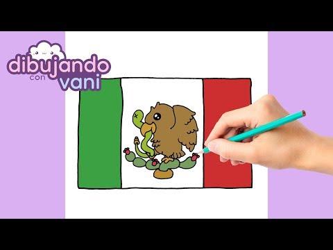Como Dibujar Bandera De Mexico Kawaii Dibujos Imagenes Faciles Para Colorear Draw Mexican Flag Youtube