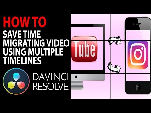 Speed up YouTube to Instagram Video Conversions | DaVinci Resolve 16 Tutorial