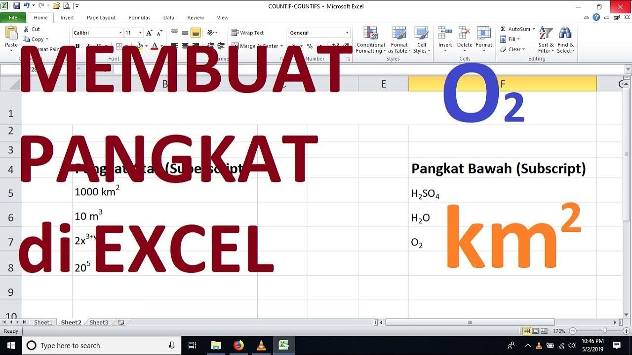 Cara Cepat Membuat Pangkat Di Excel Ii Rumus Pangkat Ii Tips Dan Trik Excel Geminitube Youtube