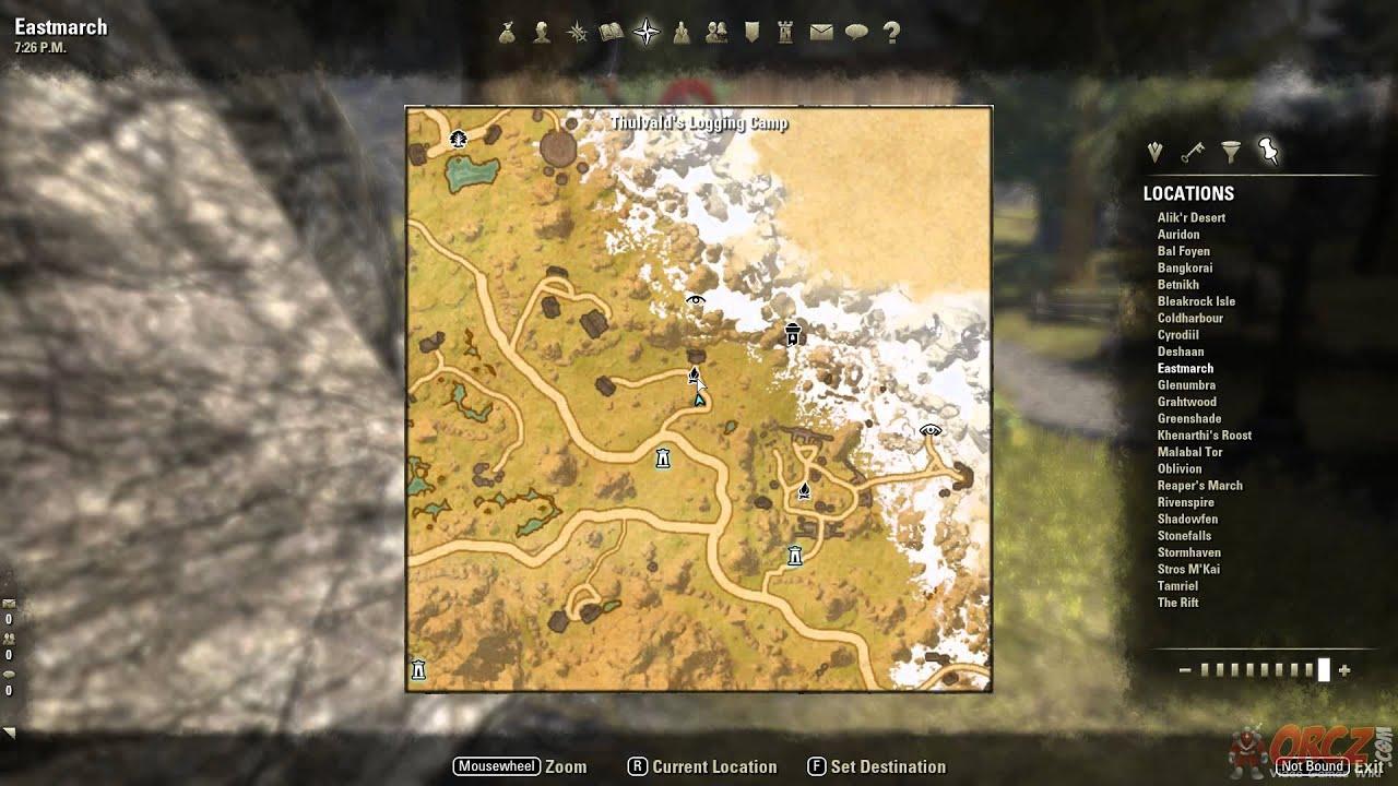 Eastmarch Treasure Map Vi Location The Elder Scrolls