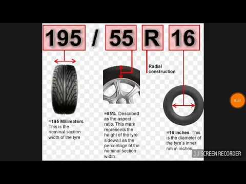 How To Read A Tire Size >> How To Read Your Tyre Size
