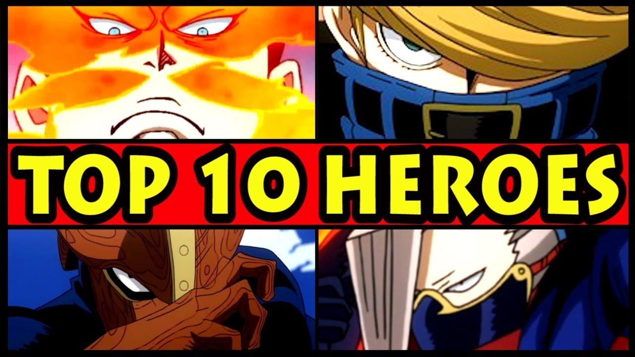 The Top 10 Pro Heroes Ranked Boku No Hero Academia Top Ten Heroes Revealed Season 3 Youtube