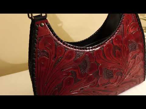 Leather Handbag  Arlet Hobo  Red #LeatherHanbags thumbnail