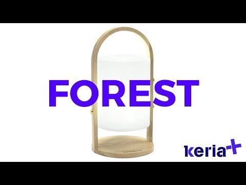 Lampe LED nomade sans fil FOREST blanche en bois et