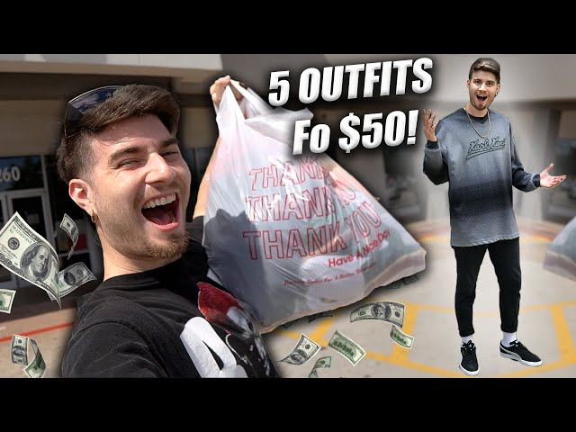 BAGS ON BAGS OF THRIFT FINDS! 5 OUTFITS FOR $50! Trip to the Thrift #345