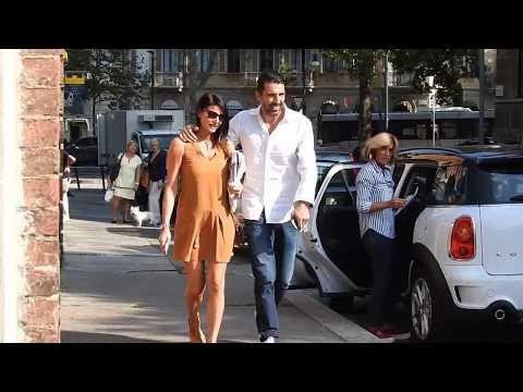 Gianluigi Buffon and Ilaria D'Amico in Turin - Respect - Paparazzi life
