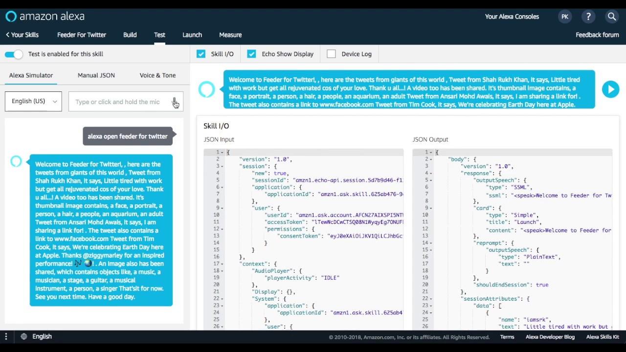 Feeder Bot Demo | Alexa Skill | Alexa Hackathon | Awais Ansari | AI