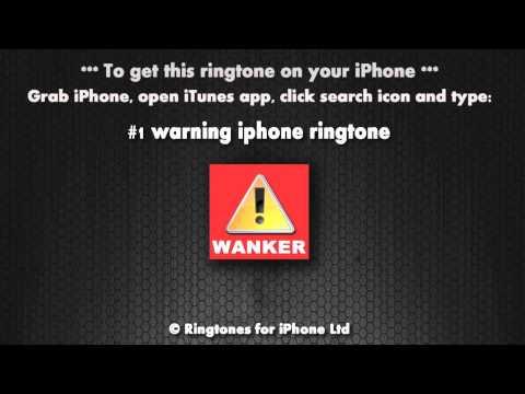 Warning Wanker iPhone Ringtone
