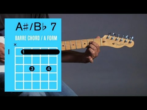 How To Play B 7 A 7 Barre Chord Guitar Lessons Youtube