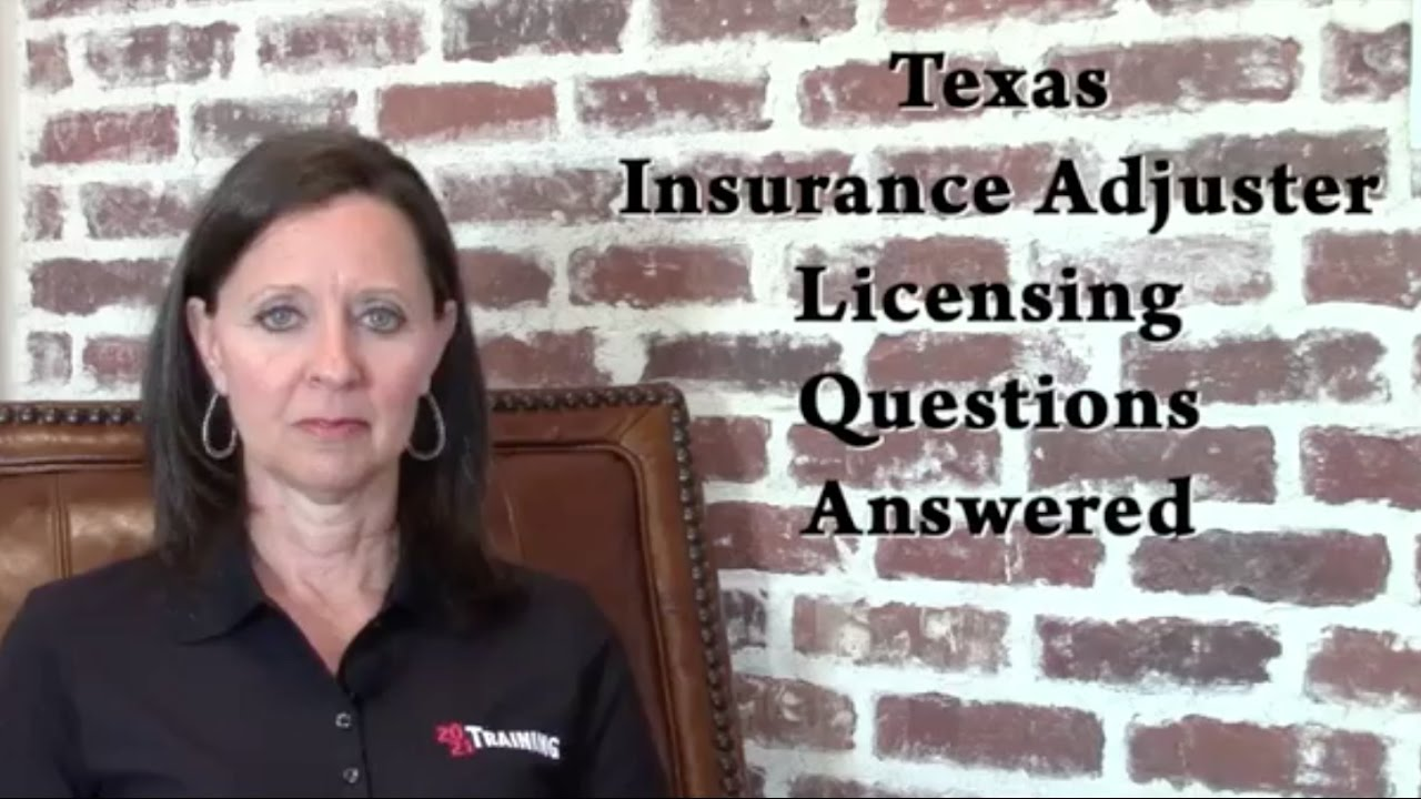 Texas Insurance Adjuster Licensing Questions Answered ...