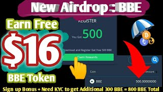 Earn Free $16 on BBE Exchange Airdrop|Instant Received|Blubitex Airdrop|BBE Token