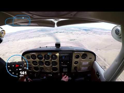 Cockpit C172 Landings - Winds 13kts Gusting 22kts