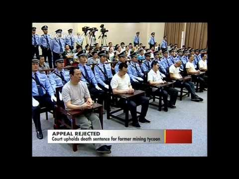 Death sentence upheld for China's mining tycoon
