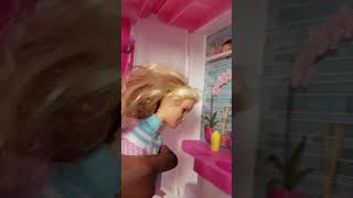 Barbie and the dream house.  Barbie shows you around the dream house.