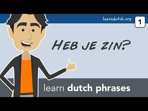 Learn Dutch phrases with Bart de Pau!