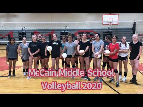 McCain Middle School Volleyball 2020