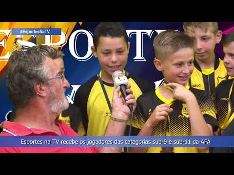 Esportes na TV recebe os jogadores das categorias sub-9 e sub-11 da AFA