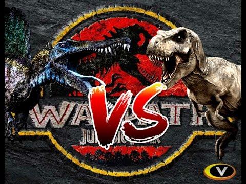 T-REX VS SPINO! REMATCH???? | WARPATH - JURASSIC PARK PS1 (DINOSAUR GAMES) | Carlos1416