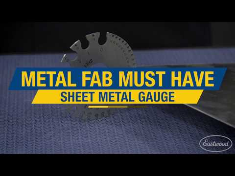 Metal Fab Must Have: Sheet Metal Gauge for Welding, Plasma Cutting & More! Eastwood