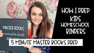 How I Fill my Master Books Binders for School || Master Books Kids Homeschool Binders |