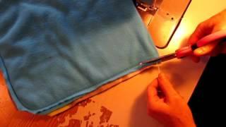 "Double fleece Snuggle sack tutorial 11"" X 11"""