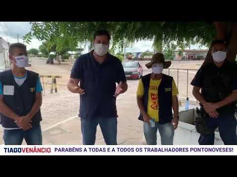 MENSAGEM DO PREFEITO THIAGO VENÂNCIO A TODOS OS TRABALHADORES PONTONOVENSES