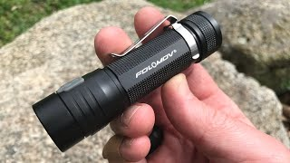 New EDC Flashlight: 1200 Lumens, Charges Your Phone from Folomov Flashlight Company