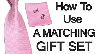 How To Wear A Matching Gift Set | Complementing Wardobe Items That Match | RMRS