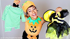 TRYING ON BABY COSTUMES!! HALLOWEEN FETUS.