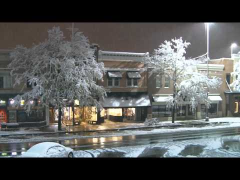 Snow Fall Time Lapse of Old Town Fort Collins, CO
