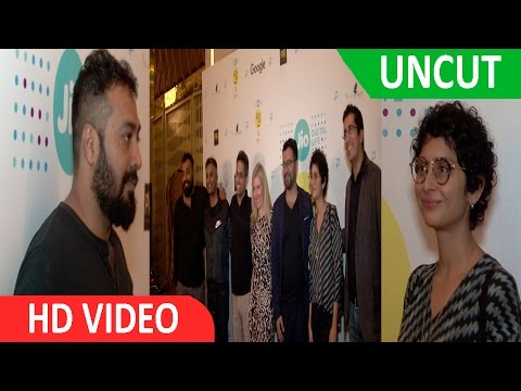 UNCUT: INDIA PREMIERE OF GOOGLE 1ST CROWD SOURCED FOOTAGE FILM WITH ANURAG KASHYAP