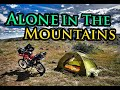 Motorcycle Camping Alone in the Wilderness - Honda XR650L