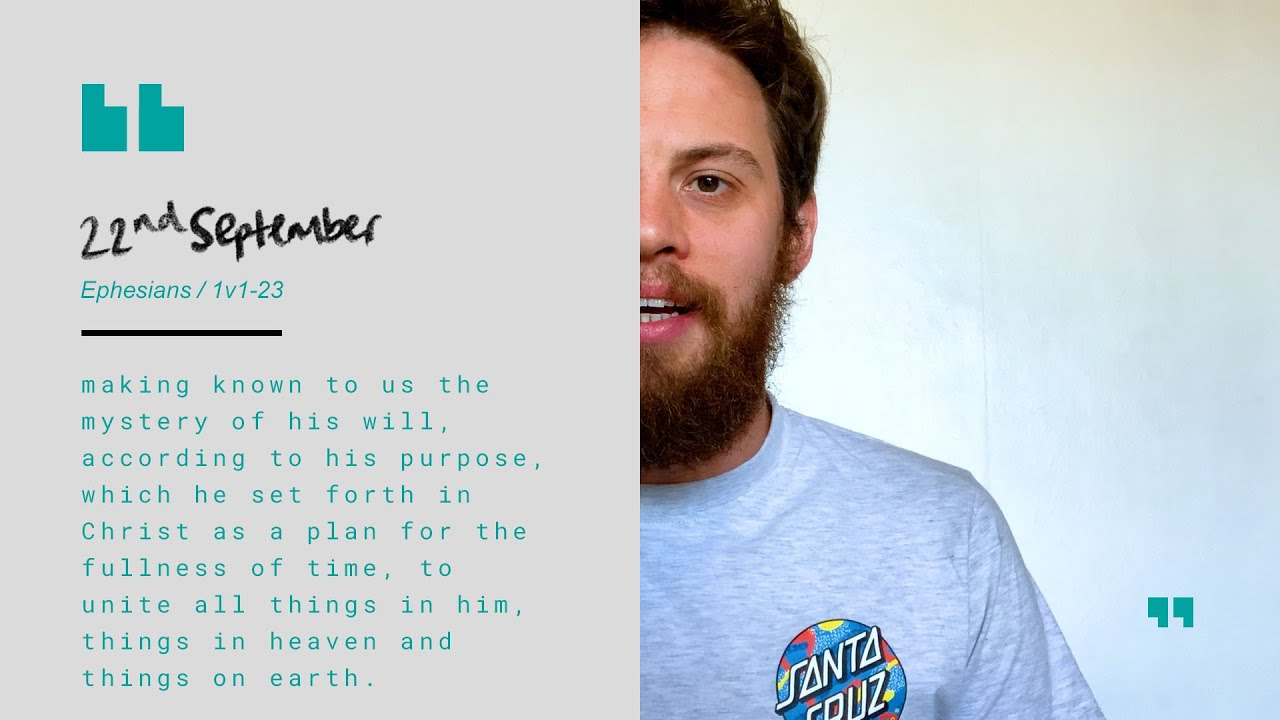Daily Devotion with Tom Walker // Ephesians 1:1-23 Cover Image