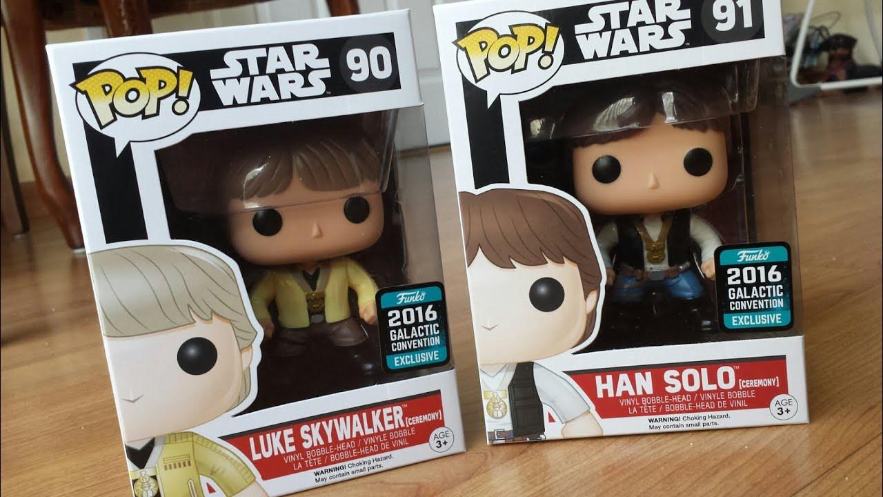 Funko POP cérémonie 2016 Celebration new Vinyl-Star Wars-Han Solo