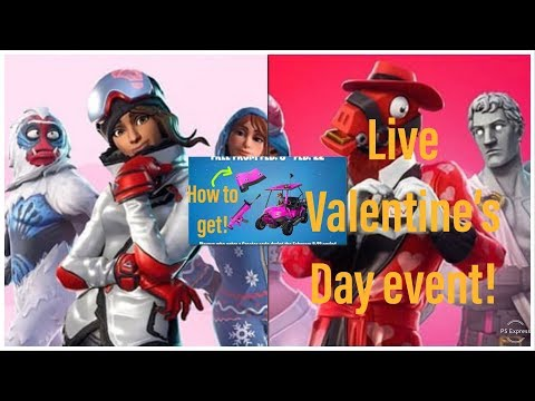 Fortnite *NEW* VALENTINES EVENT // Fortnite FREE SKINS AND WRAPS //  Fortnite PS4 livestream