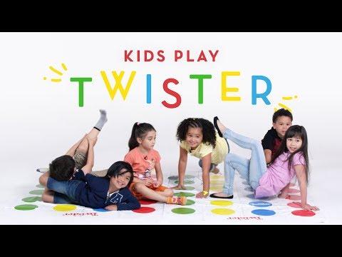 Kids Play Twister