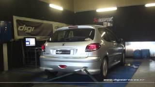 Reprogrammation Moteur Peugeot 206 hdi 90cv @ 126cv Digiservices Paris 77 Dyno