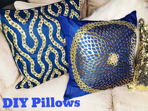 Glam DIY Pillows | DIY Cushions | Bling Pillows