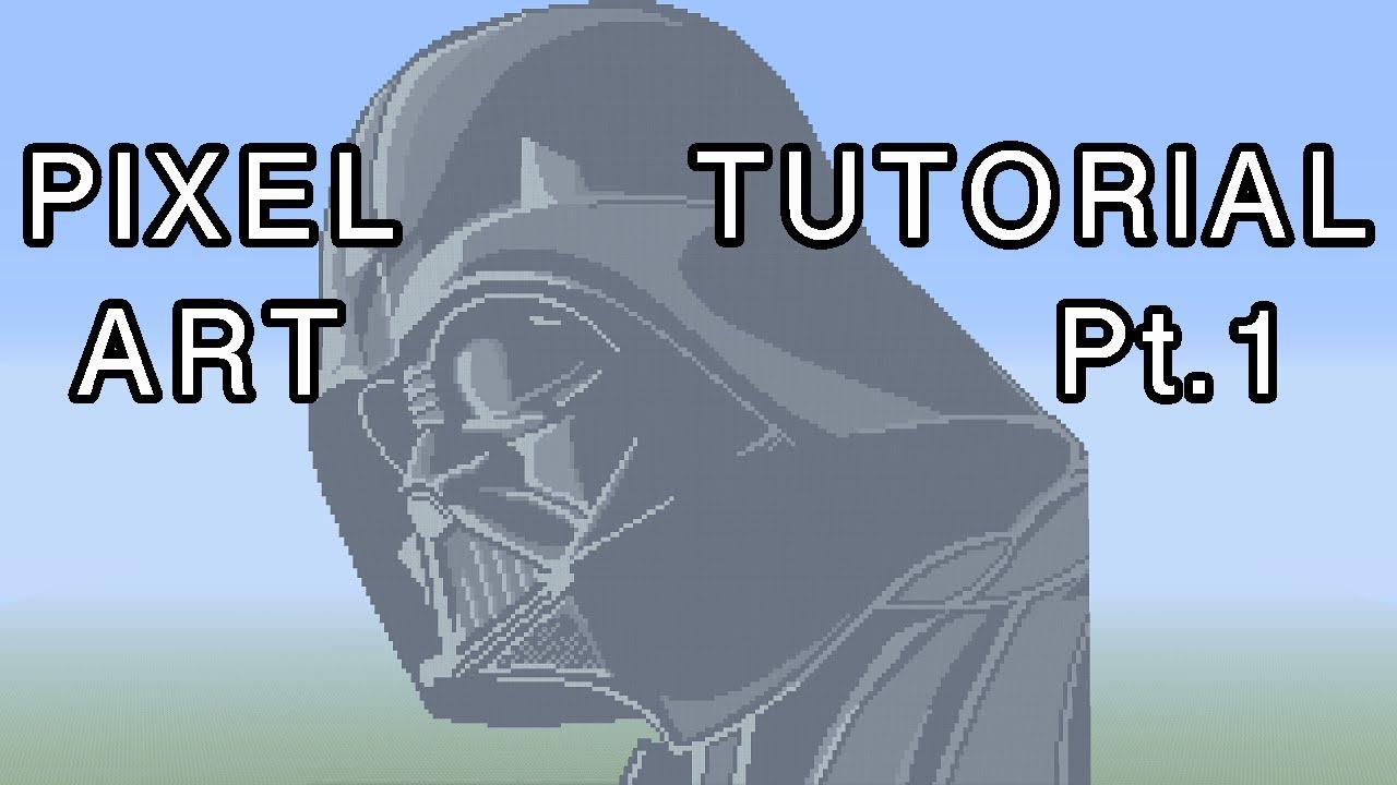 Minecraft Pixel Art Tutorial Darth Vader Star Wars Part 1 Youtube