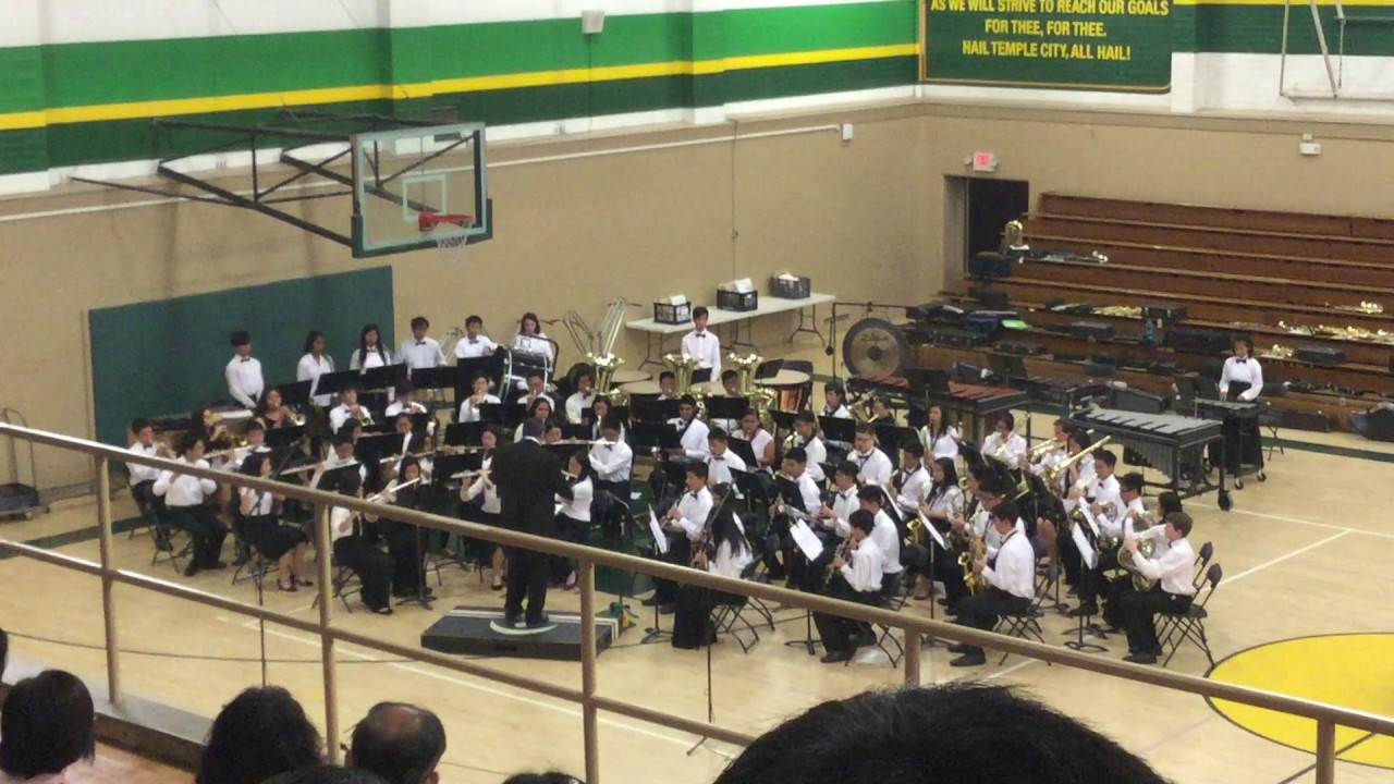 Ayres Of Agincourt Temple City Hs Symphonic Band 3 15 17 Youtube