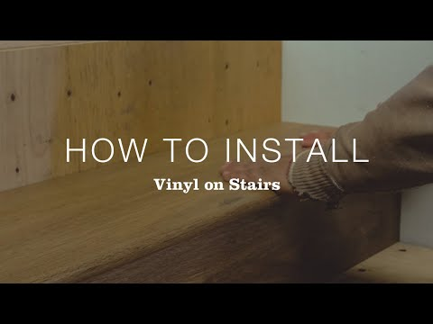 How to Install Vinyl Flooring on Stairs